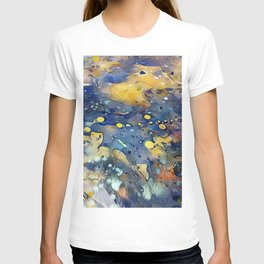 When Planets Align watercolor abstract by CheyAnne Sexton T-shirt