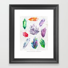Watercolor Crystals Framed Art Print