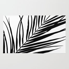 Palm Leaves I Black & White Rug