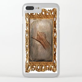 Daguerreotype Thumbs Up Clear iPhone Case