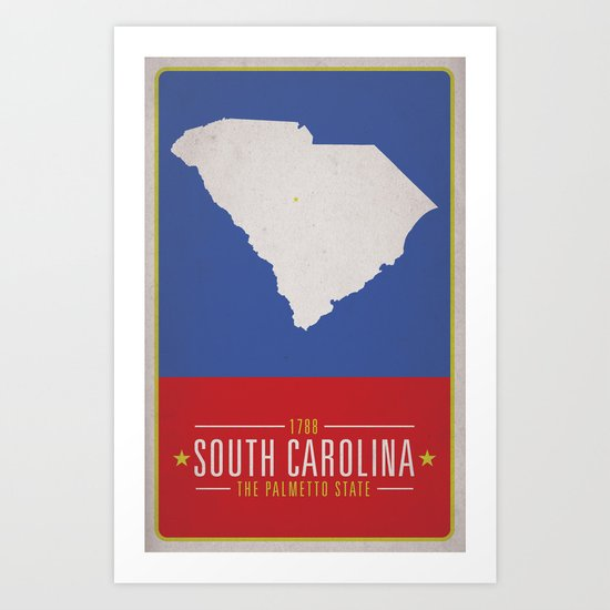 SOUTH CAROLINA Art Print