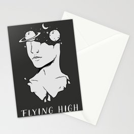 Flying high | open your mind | surreal art Stationery Cards