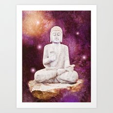 BUDDHA | Red Lights Art Print