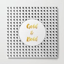 Gold & Bold Metal Print