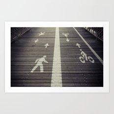 Brooklyn Bridge Footpath Art Print