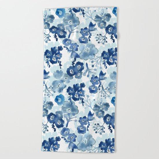Blooms of Ink Beach Towel