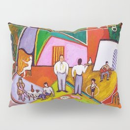 African American Masterpiece 'The Time of Your Life' by Beauford Delaney Pillow Sham
