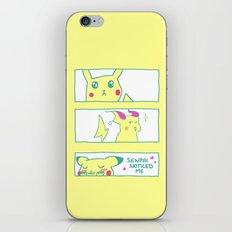 Teenage Poke Romance iPhone & iPod Skin