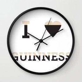 I heart Guinness Wall Clock