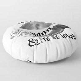 Good Mourning Lyrics Floor Pillow