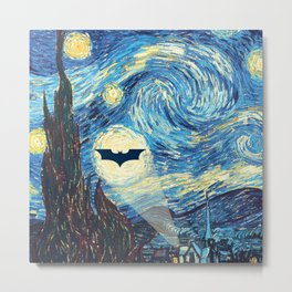 Starry Night Heroes Metal Print