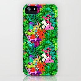 Magic Jungle in Black iPhone Case