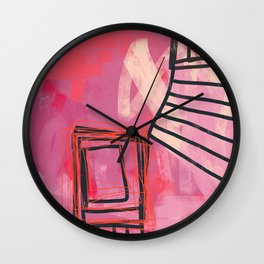 pinch me - abstract painting Wall Clock