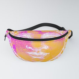Sun vintage orange pink Fanny Pack