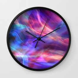 Abstract Shiny Night Lights 14 Wall Clock