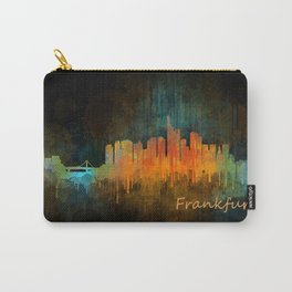 Frankfurt am Main, City Cityscape Skyline watercolor art v4 Carry-All Pouch