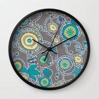 ladybug Wall Clocks featuring Ladybug by Robin Curtiss