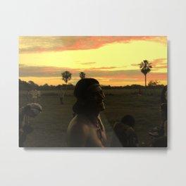 Indian sunset Metal Print