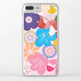 Shabby Chic Romantic Floral Clear iPhone Case