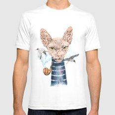 Sphynx Cat II Mens Fitted Tee MEDIUM White