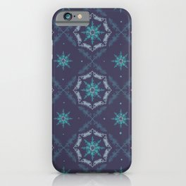 Frosted Tree Stars Pattern iPhone Case