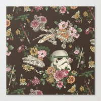 modern family Canvas Prints featuring Botanic Wars by Josh Ln
