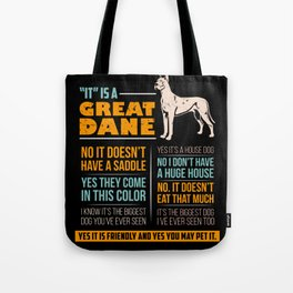Great Dane Dog Puppy Gift for Dog Lovers & Owners Tote Bag