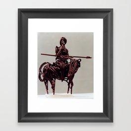 Don Quixote by Shimon Drory Framed Art Print