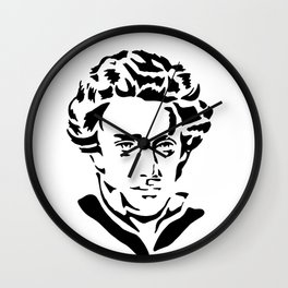 Soren Kierkegaard Wall Clock