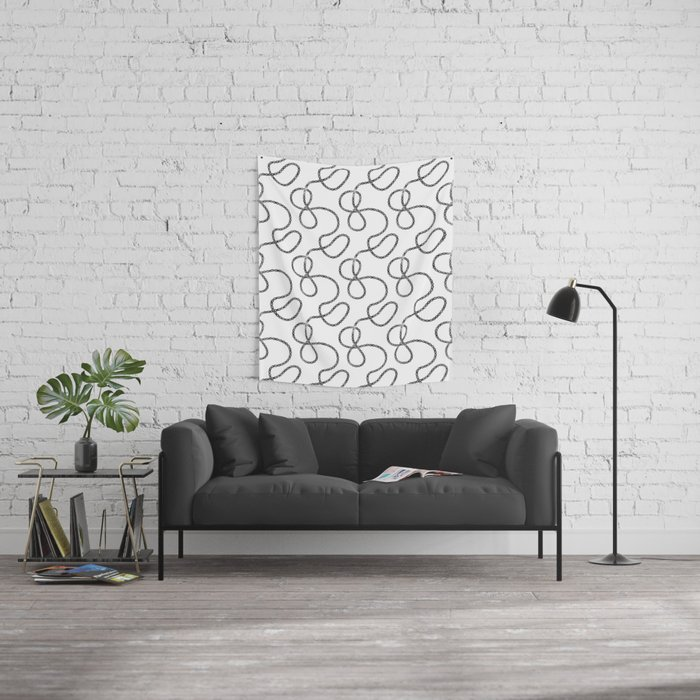bicycle chain repeat pattern Wall Tapestry