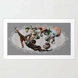 otto's swingset Art Print