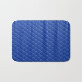 Blue Diamond Pattern Curtain Bath Mat