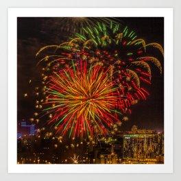 Firework collection 3 Art Print