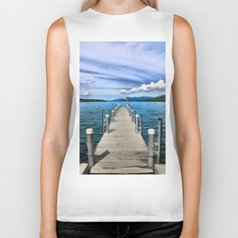 Stepping to the Sea Biker Tank