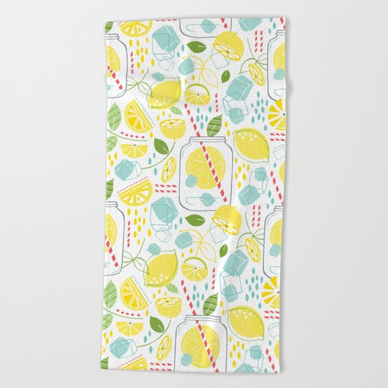Summer Sippin' Beach Towel