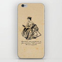 Lousia May Alcott - Good Books iPhone Skin