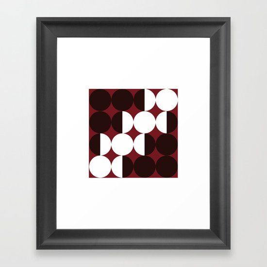 #384 Four months – Geometry Daily Framed Art Print
