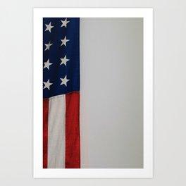 Side Flag (Color) Art Print