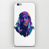 asap rocky iPhone & iPod Skins featuring NEXTGEN RAPPERS: ASAP ROCKY by mergedvisible