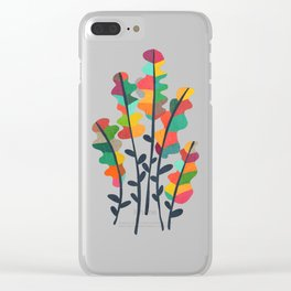 Flower from the meadow Clear iPhone Case