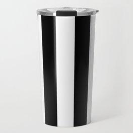 Black and White Stripes  Travel Mug