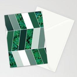 Green Herringbone #society6 #green #succulent Stationery Cards