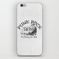 punk rock iPhone & iPod Skins featuring Punk Rock Plymouth Ma. by Kris Petrat Design