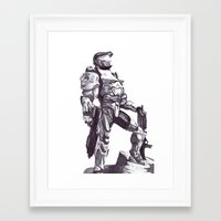master chief Framed Art Prints featuring Master Chief 117 by DeMoose_Art