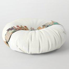 kansas city skyline Floor Pillow