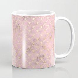 Rose Gold Fish Scale Pattern Coffee Mug