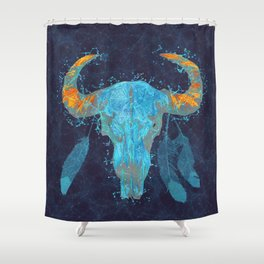 Skull totem Shower Curtain