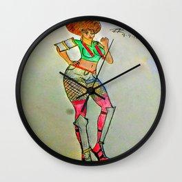 Nunchuck Ninja Wall Clock