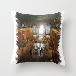 Grand Central Terminal in Digital Oils Throw Pillow