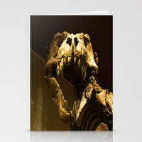 t rex Stationery Cards featuring T-Rex by Vito Fabrizio Brugnola
